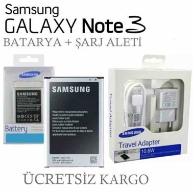 Samsung Samsung Galaxy Note 3 Batarya + Şarj Aleti Renkli